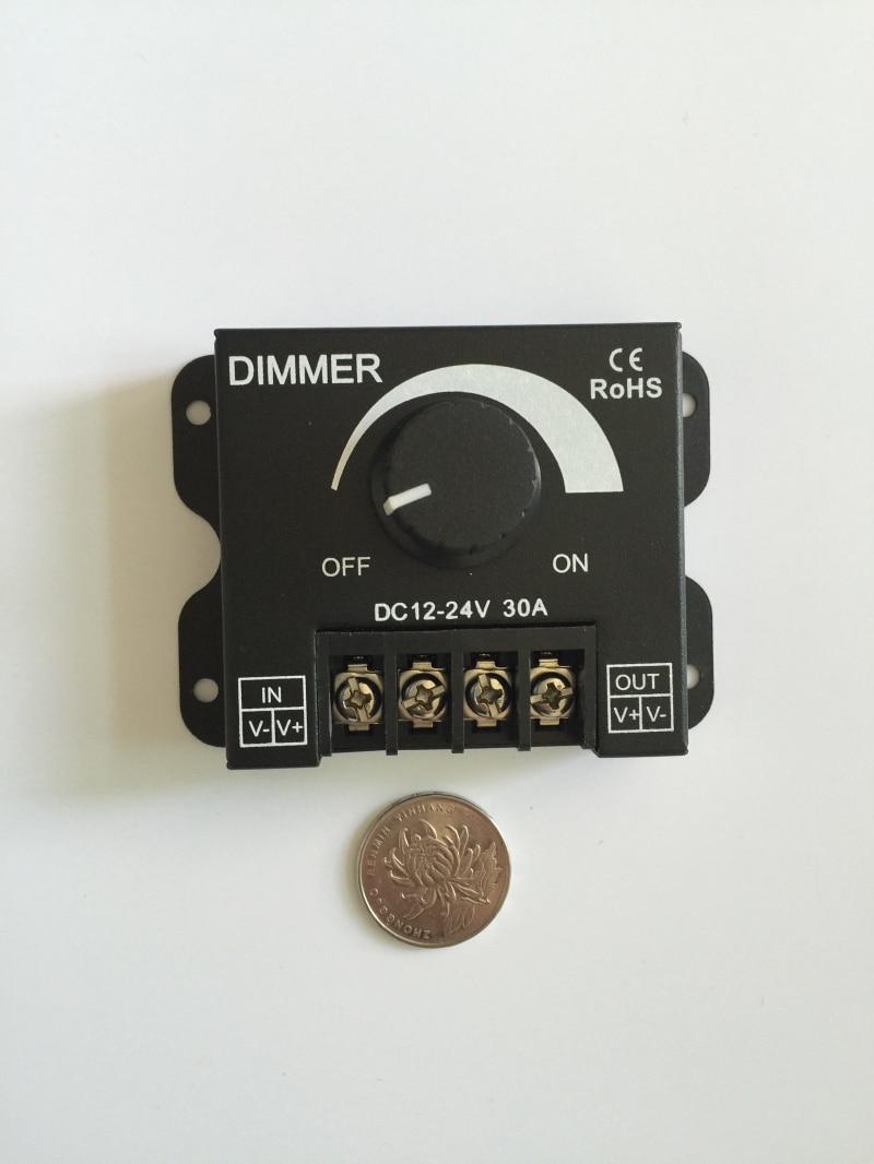 Perilla LED 360 W dimmer 12 V-24 V 30A módulo tira luz dura con monocromo  dimmer resistencia interruptor regulador