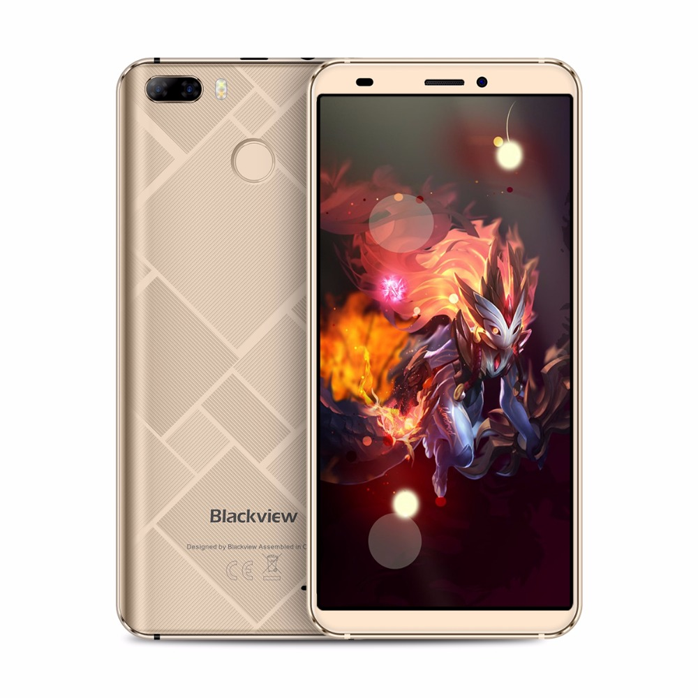 Blackview S6 Smartphone 18:9 5.7inch HD+ Android7.0 MTK6737 Quad core 4G Mobile phone 2GB+16GB Dual Rear Camera GPS Fingerprint
