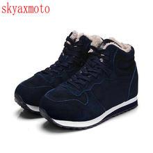 Skyamoto Top Hommes Bottes hommes bottes d'hiver Botas Hombre De Fourrure dentelle Up Chaud Neige Bottes Pour Hommes 2017 De Mode D'hiver chaussures