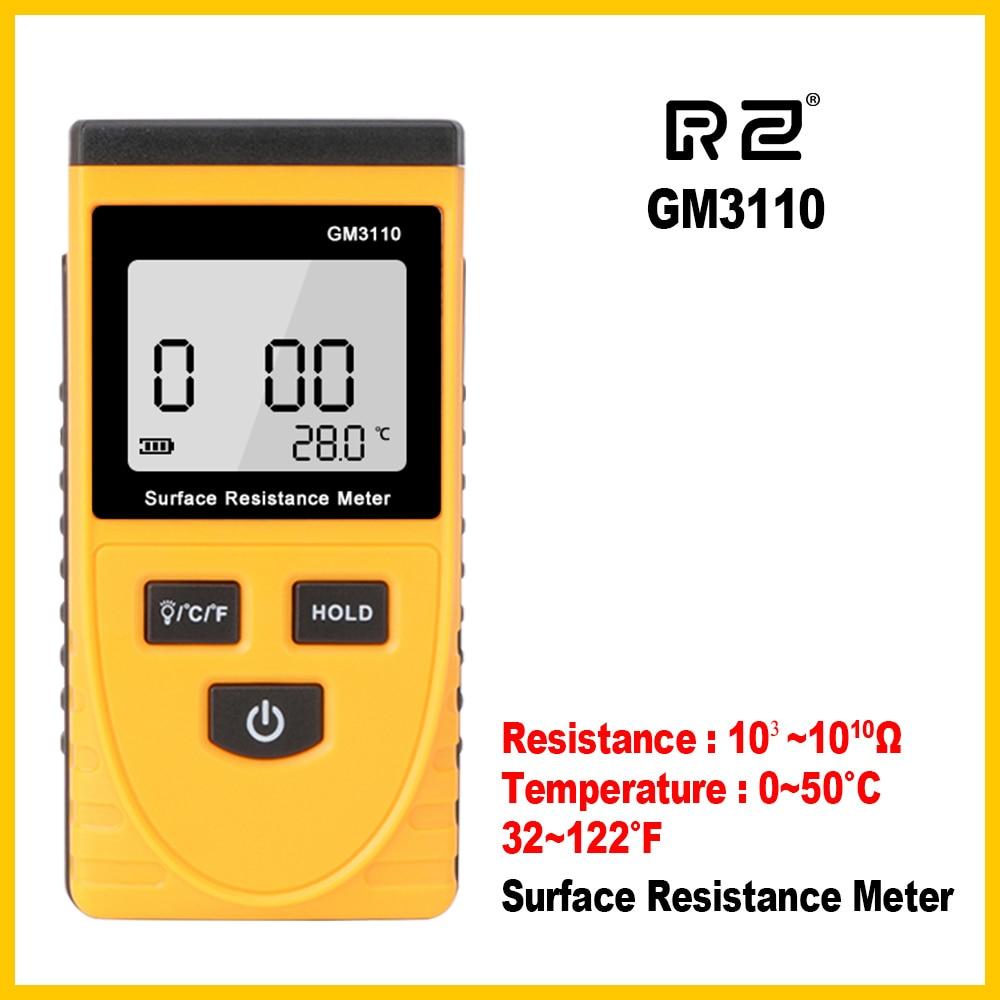 Surface Resistance Tester Handheld LCD  Digital Display Anti-static Resistance Meter  GM3110Surface Resistance Tester Handheld LCD  Digital Display Anti-static Resistance Meter  GM3110