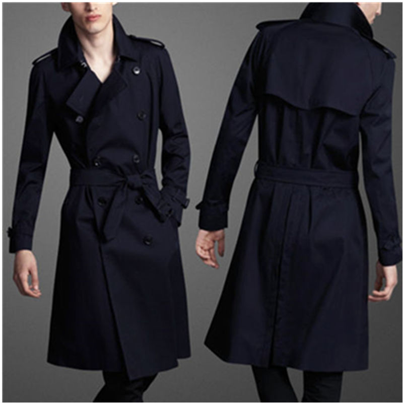 6XLautumn plus size 6xl 9xl men velvet   Trench   turn down collar loose double breasted X-long 8xl jacket coats chest 160cm Winter