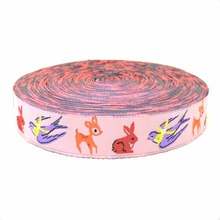 Zakka handmade accessories ribbon laciness clinched cartoon Woven Jacquard Ribbon width 5/8 1.6 CM  10yards/lot