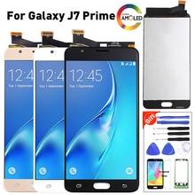 5.5 عرض لسامسونج غالاكسي J7 Prime LCD G610F G610 SM G610F شاشة الكريستال السائل محول الأرقام بشاشة تعمل بلمس 100% اختبار J7 Prime شاشات الكريستال السائل