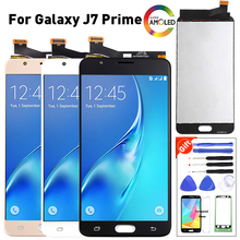 5.5 wyświetlacz do SAMSUNG Galaxy J7 Prime LCD G610F G610 SM G610F wyświetlacz LCD z ekranem dotykowym Digitizer 100% testowane J7 Prime LCD