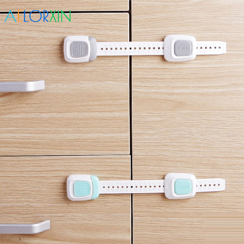 1Pcs Protection Baby Safety Baby Newborn Care Child Refrigerator Drawer Toilet Lock Protection From Children Security Cabinet ...
