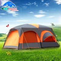 Наружное оборудование 8 человек 10 человек 12 человек две комнаты и одна гостиная кемпинг ветер дождь мульти человек большая палатка