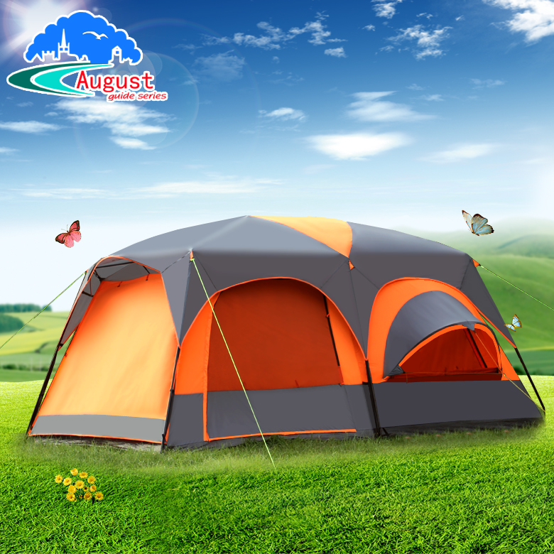 Outdoor equipment 8 people 10 people 12 people two rooms and one living room camping camping wind rain multi person big tent