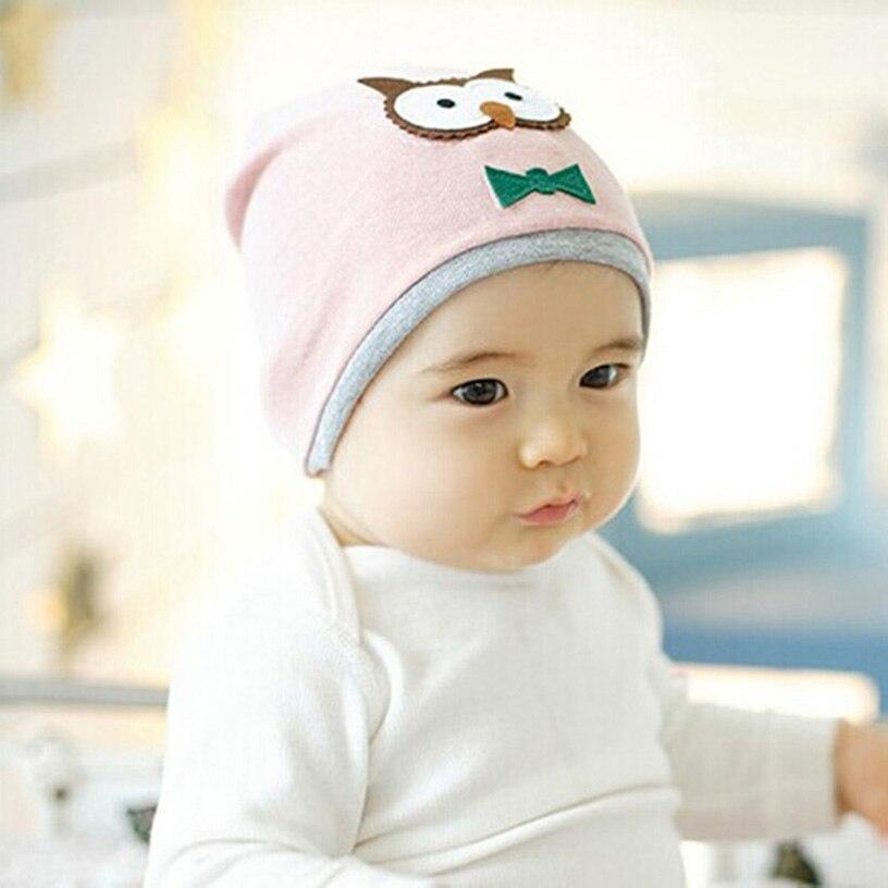 Newborn Kids Beanies Owl Printed Baby Girl Summer Hat Cotton Cap Kids Casual Touca Infantil Cool Baby Hat