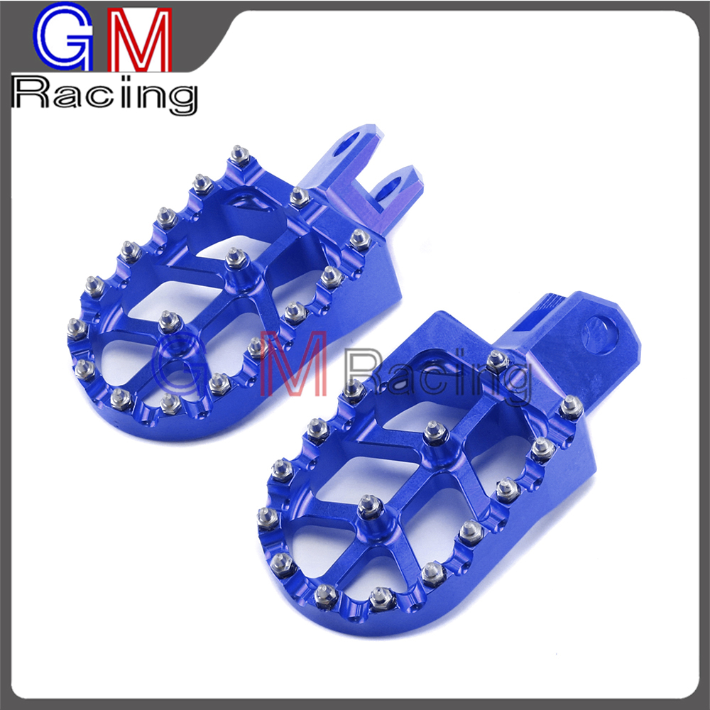 Motorcycle CNC Aluminum Foot Pegs Rests Footpegs Pedals For SUZUKI RM125 RM250 RMX250S RMX250R DRZ400 DRZ400E