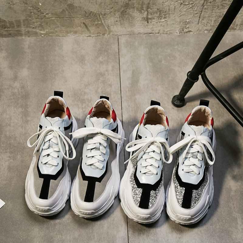 Clásica Tela Zapatillas Encaje De Gris Con sliver Europea Plana Lentejuelas Mujeres Lujo Zapatos Cuñas Las Deporte Marca Vulcanizados Plataforma 0Hxq7d7P