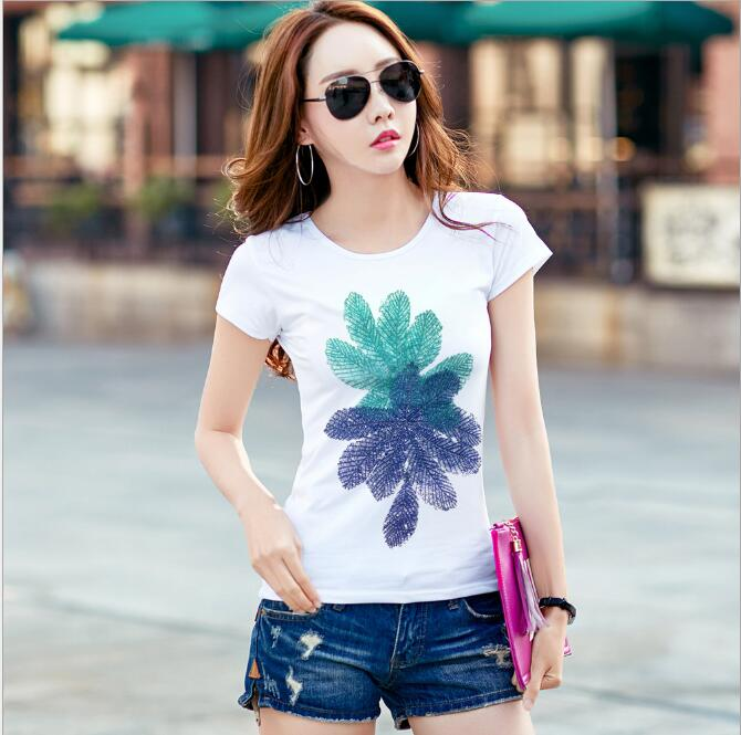 New Women Summer tshirt 2019 short Sleeve Tops Cartoon Printed T-shirt Female Casual Fashion Slim Top Tee Clothing