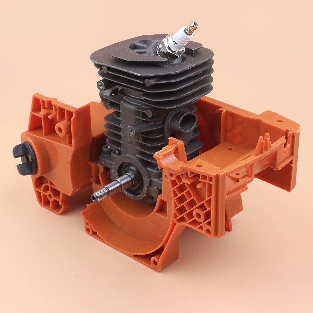 38MM Crankcase Cylinder Crankshaft Engine Motor Rebuild Kit Fit For HUSQVARNA 137 142 137E 142E Chainsaw Assembly Nikasil Plated