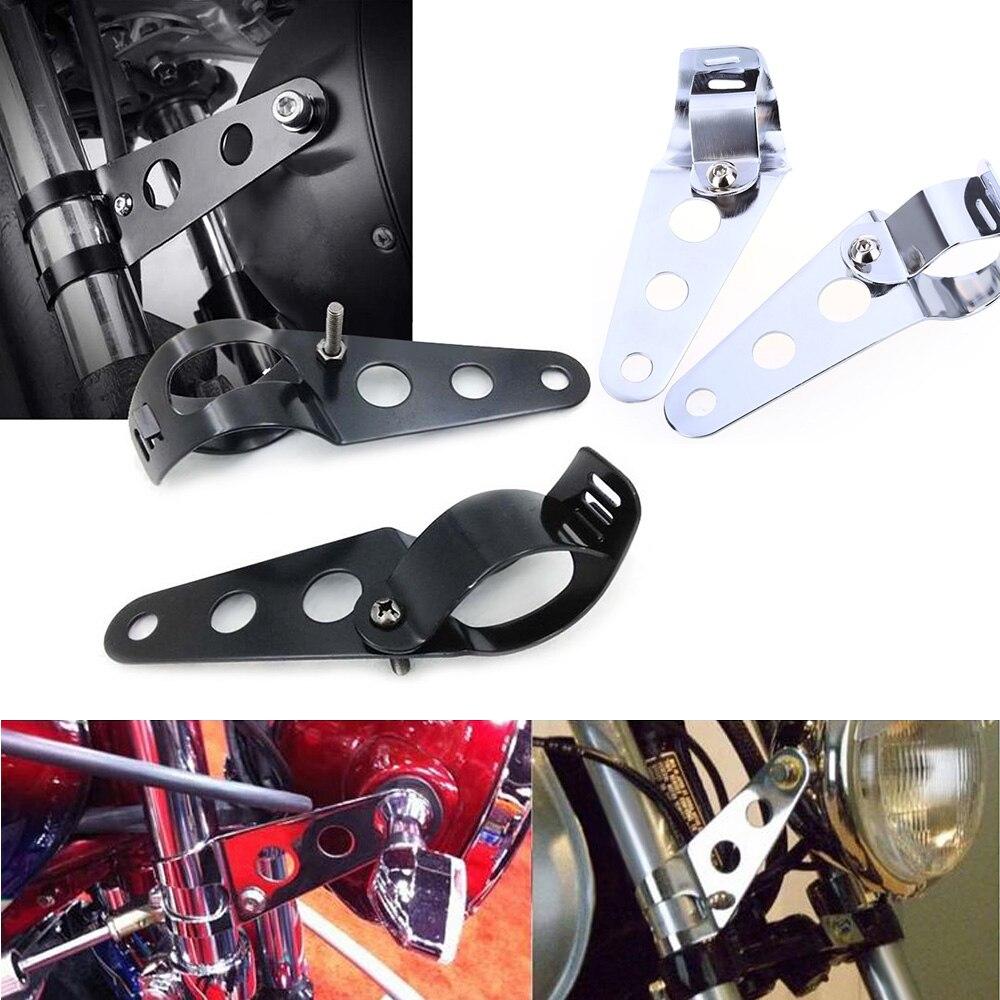 1 Pair flashing collar fastening tabs on the fork BLACK custom motorcycle
