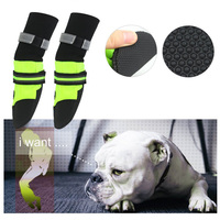 4 Pcs Set Winter Dog Shoes Reflective Dogs Labrador Husky Warm Pet Snow Boots Waterproof Anti