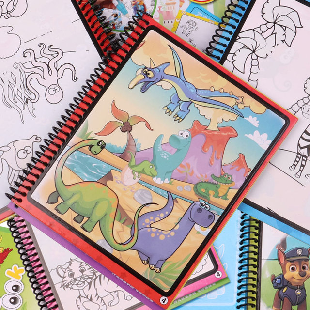 Magic Water Drawing Book Coloring Book Doodle With Magic Pen Painting Drawing Board Coloring Book Kids Toys Educational Toys