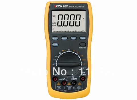 Digital Multimeter/Victor/VC86C 3/4 Auto Range Temperature Test Streamline Design & Large LCD Display digital multimeter victor vc 6056d3 4 auto range temperature test streamline design