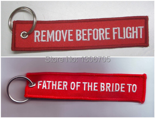 Вышитый брелок для отца невесты