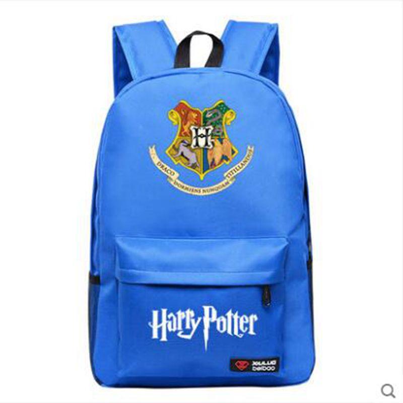 все цены на Harry Potter School Bags Book Backpacks Children Bag Fashion Shoulder Bag Rucksack Students Backpack Travel Bag for teenagers онлайн