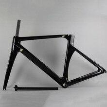 Китайские углерода дороги велосипед Рамка T1000 Road Велосипедная рама углерода aero 48/50/52/54/56 см С Вилы + гарнитура + подседельный углерода Рамка