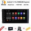 "9"" 1024X600 Quad Core 2GB RAM Android 7.1.1 Car DVD Player Radio GPS for Porsche Cayenne 2003-2010 Head Unit Autoradio 4G/WIFI"