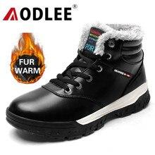 AODLEE Männer Stiefel Winter Plüsch Pelz Warme Stiefel Schnee Männer Turnschuhe Stiefel Männer Mode Stiefeletten Casual Schuhe Größe 48 botas hombre