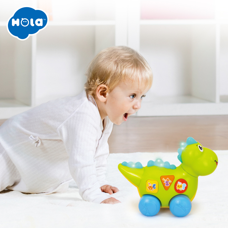 HUILE TOYS 6105 New Baby Toy Multifunctional Electirc Dinosaur Musical Toys Kids Fun Learning Educational Toys for Boy Xmas Gift