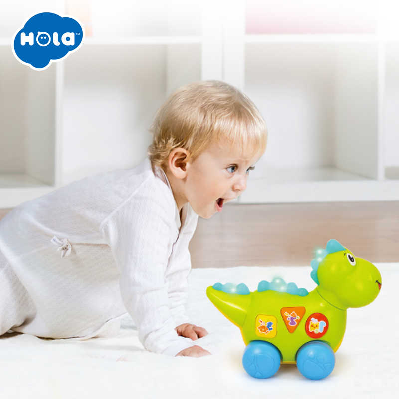 282d3b188e5 ... HUILE TOYS 6105 New Baby Toy Multifunctional Electirc Dinosaur Musical  Toys Kids Fun Learning Educational Toys ...