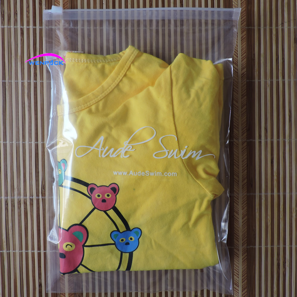 custom printed gift logo zipper and zip lock plastic bag for packaging