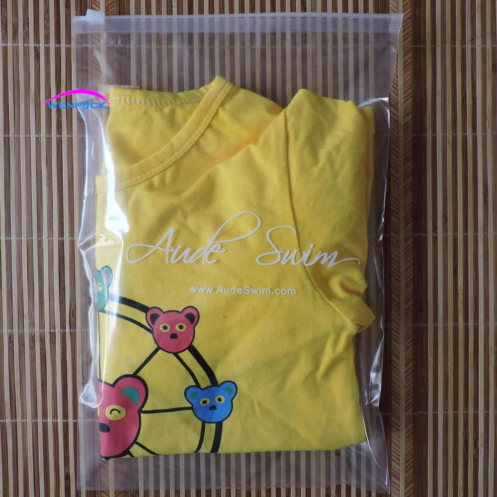 custom printed gift logo zipper and zip lock plastic bag for packaging