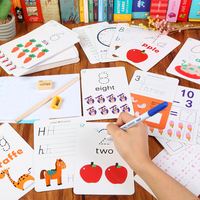 Kids Writing Number Letter Alphabet English Word Cards Math Toys Water Painting Graffiti Drawing Board Educational Toys Children