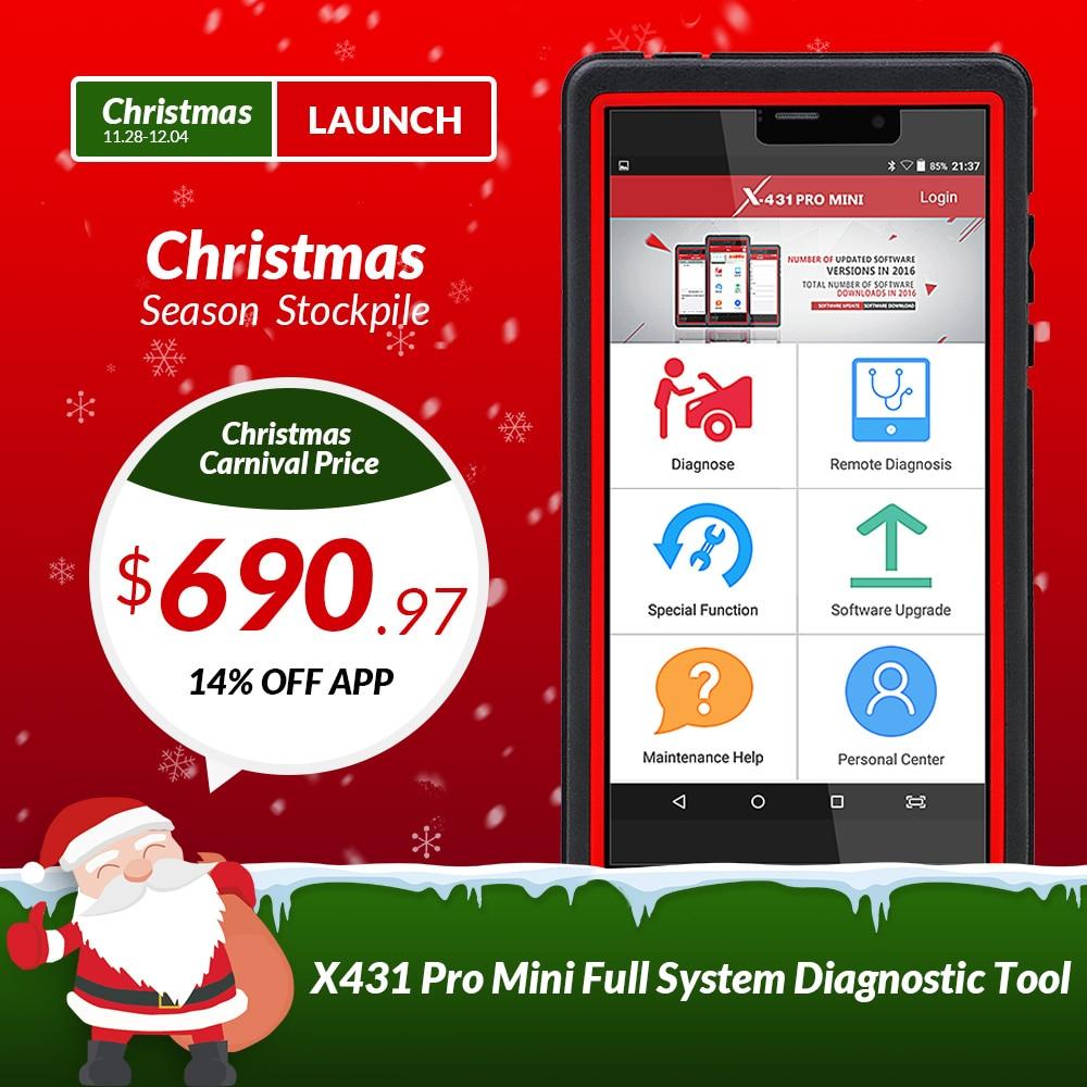 Запуск X431 Pro мини авто инструменту диагностики Поддержка Wi-Fi/Bluetooth полная система X-431 Pro плюсы мини-автомобиль сканер 2 года бесплатного обнов...