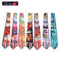 SALUTTO Lady Long Scarf Silk Scarf Small Twilly Ribbon Hair Band Bags Handle Decoration Bow Tie Multifunction Ribbon