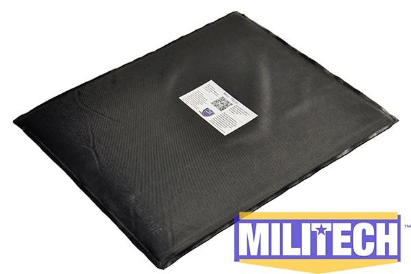 MILITECH 11'' x 14'' T Cut Bulletproof Aramid Ballistic Panel + E2 Stab Resistant Body Armor Soft Armor NIJ Level 3A NIJ 0115.00 feather printed round beach throw