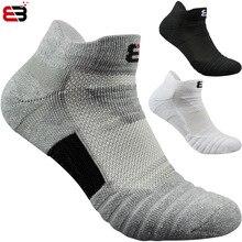 Супер Элитные 2 пары профессиональных спортивных носков для бега классические Дышащие хлопчатобумажные баскетбольные Носки для бадминтона, тенниса, баскетбола