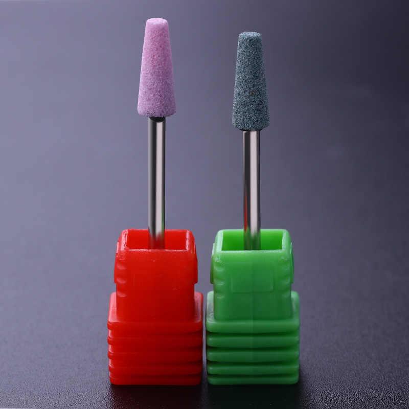 """1 Pc 3/32 """"Pro Elettrica Del Chiodo di Ceramica Punta del trapano Cutter Tapered Barile Griding Manicure Del Chiodo di trasporto Strumento 2 Colori"""