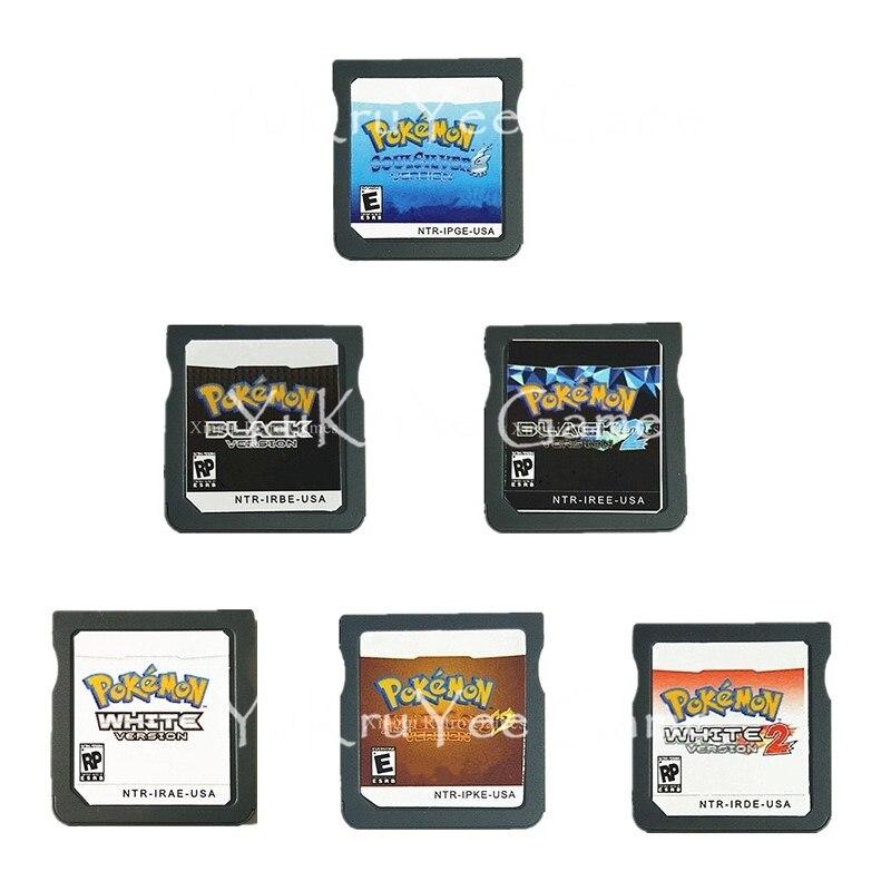 PokemonSeries Blanc Noir Heartgold Soulsilver Cartouche De Jeu Vidéo Console Carte Anglais Langue NOUS Version