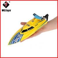 WL911 2,4G de Control remoto de alta velocidad 24 km/h RC barco juguetes de barcos modelo de lancha rápida para niños adultos hobby Racing Boat