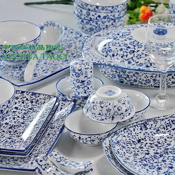 56 tableware allotypy quality blue and white dinnerware set plate soup pot bowl  sc 1 st  AliExpress.com : blue china dinnerware sets - pezcame.com