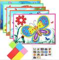 1pcs Kids Foam Mosaic Stickers Art Puzzle DIY 3D Pasted Cartoon Character Children's Educational Toy