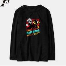 Luckyfridayf Daft Punk Camiseta de manga larga hombres mujeres algodón  primavera moda música eléctrica banda streetwear hip hop . f2c6e6d2830