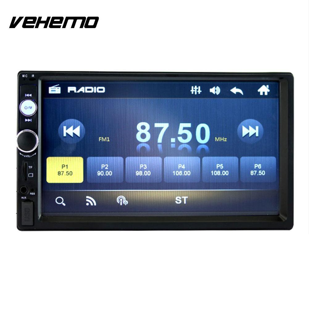 "Vehemo 7"" Double DIN For Car MP5 Bluetooth Touch Screen Rearview Sighting Camera 70101B"