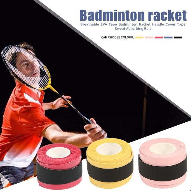 Badminton Racket Tape Anti-skid Hand Glue Sweat Absorbing Belt Tennis Overgrip Grip Padel Keel Hand Sticky Thicken Sweat Belt 4