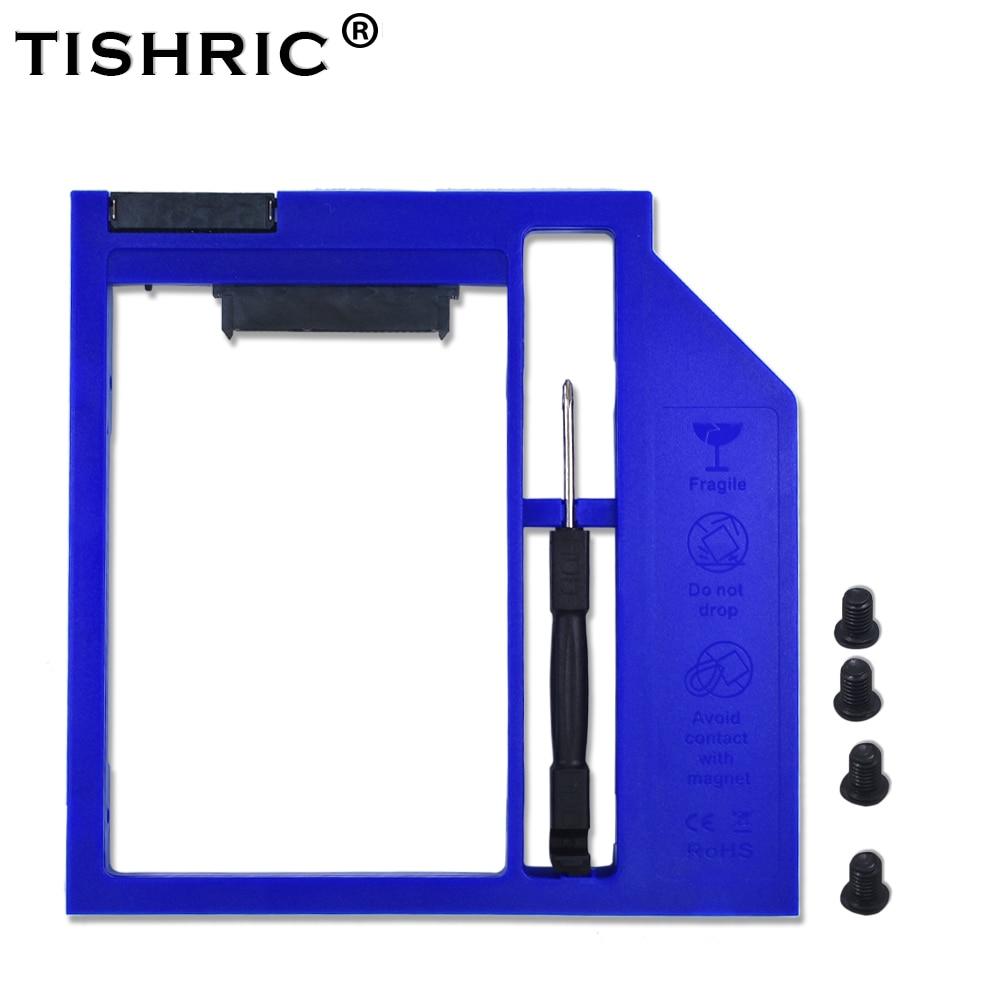 TISHRIC Blue Plastic Optibay 2nd HDD Caddy Box 9.5mm SATA 3.0 For 9/9.5mm 2.5
