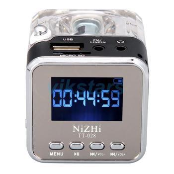 Mini Radio FM Numérique LCD Haut-Parleur Lecteur Micro SD USB MP3
