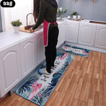 AAG Long Kitchen Mat Bathroom Carpet Absorbent Anti-slip Doormats Balcony Living Room Pad Rugs Modern Home Floor Mats plate floor pad plate type flower type printing anti slip absorbent flannel home floor pad