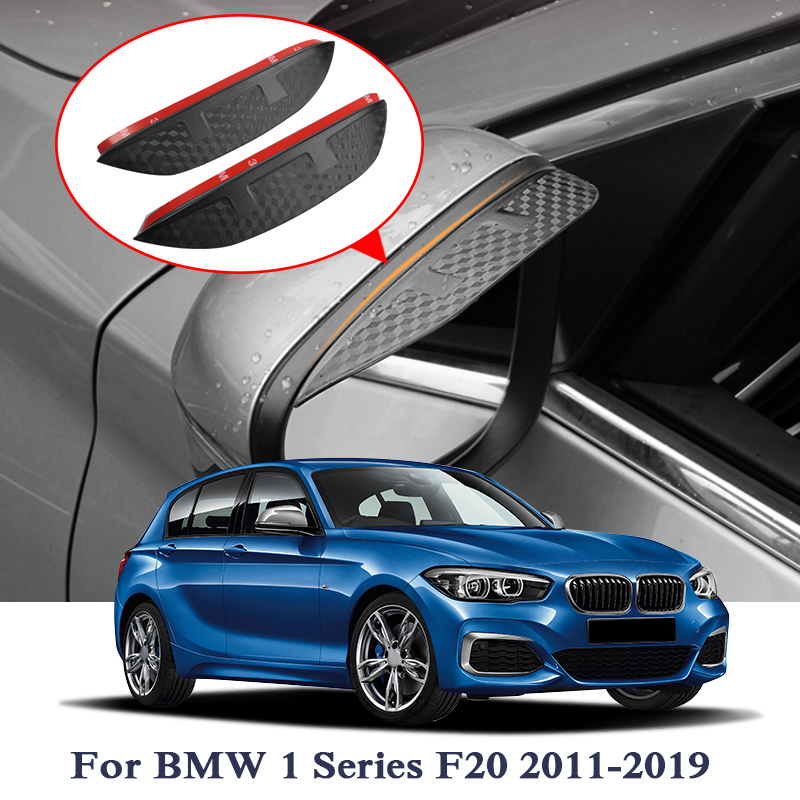 Car Rearview Mirror Rain Eyebrow Stickers For <font><b>BMW</b></font> 1/3/5 Series F20 F30 F10 G30 X1 E84 F48 <font><b>X3</b></font> F25 <font><b>G01</b></font> X5 F15 Carbon Fiber Sticker image