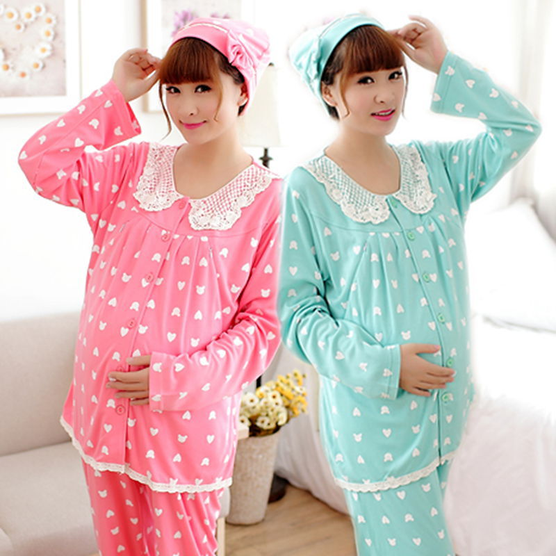 3PCS/Pack Maternity Nursing Pajamas Breastfeeding Clothes Nightgown Maternity Sleepwear Clothes for Pregnant Women Clothing SY04