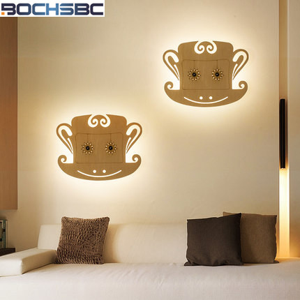 Aisle Stairs Wall Lamp LED Creative Bedroom Wall Light Decoration Bedside Lamp Small Wood Monkey Wall Lamps modern creative wall light led bedside wall lamp bedroom sconces aisle corridor led bra wall lighting