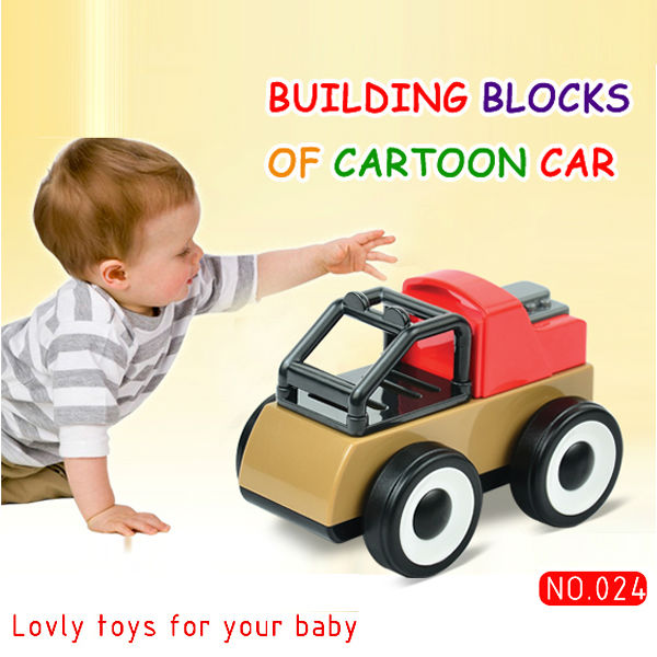 Building blocks cartoon car Enlighten Block Set 3D Construction Brick Toys Educational toy Children - YIGA' store