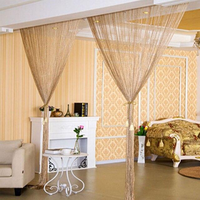 Mode String Vorhang Raumteiler Perlen Turfensterscheibe Hochzeit
